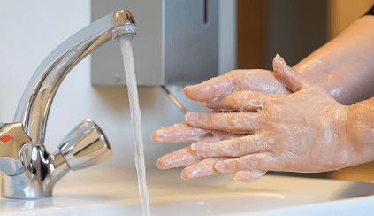 coronavirus Händen wasche